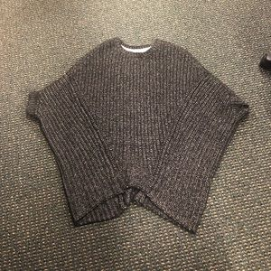 Pancho winter sweater black & white COMFY
